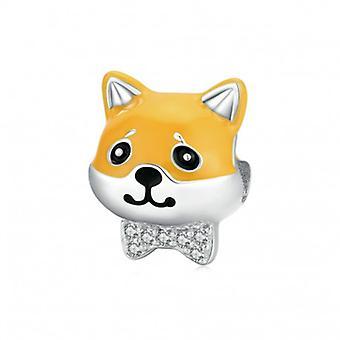 Sterling Silver Charm Shiba Dog - 6525