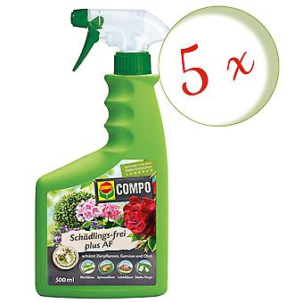 Sparset: 5 x COMPO Pest-free Plus AF, 500 ml