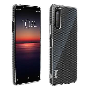 Case voor Sony Xperia 1 2 Soft Siliconen Matte Clear + Flexibele screenprotector