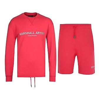 Marshall Artist Non Anth Sweatshirt & Shorts Red Tracksuit