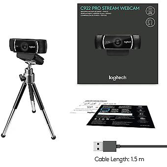 Logitech c922 pro stream webcam, hd 1080p/30fps or hd 720p/60fps, black