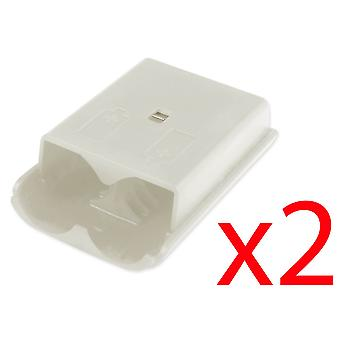 2x Xbox 360 Wireless Controller White Battery Back Cover Pack Replacement Part