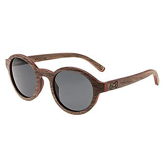 Earth Wood Maho Polarized Sunglasses - Brown Stripe/Black