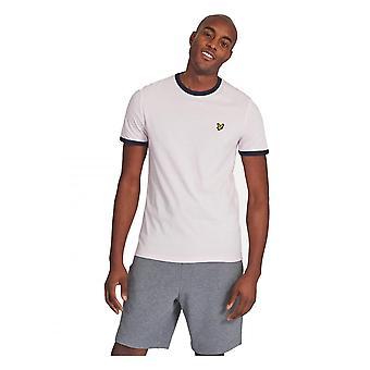 Lyle & Scott Ringer Korte Mouw T-shirt Roze/marine