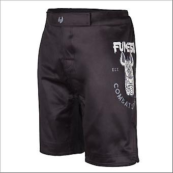 Fumetsu rampage supply co fight shorts black