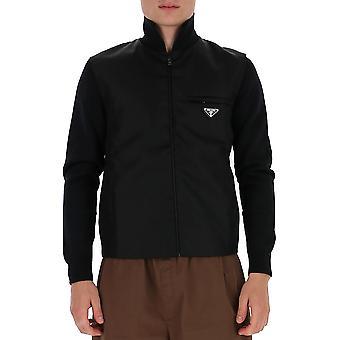 Prada Umc1491jf4f0002 Männer's schwarze Wolle Pullover