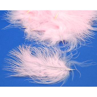 20 Pale Pink Premium Marabou Feathers for Crafts