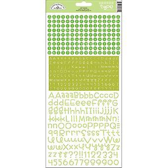 Doodlebug Design Limeade Teensy Type Stickers