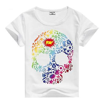 Summer Cotton Short Sleeve T-Shirt, Pow Skull