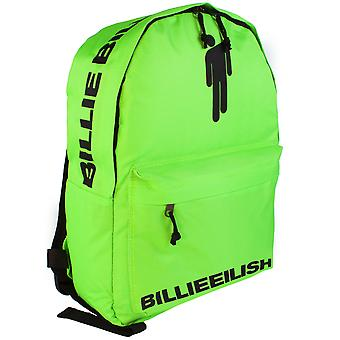 Billie Eilish Backpack Rock Sax Blohsh Bad Guy Music Green Rucksack School Bag