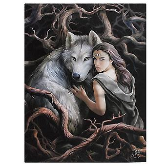 Anne Stokes 19x25cm Soul Bond Canvas