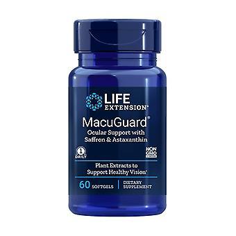 Support oculaire Macuguard avec astaxanthine 60 perles