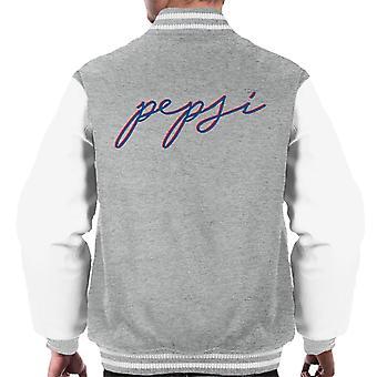 Pepsi Retro geschrieben Logo Men's Varsity Jacke