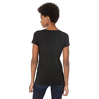 Lark & Ro Women & apos;s Jersey Pima Cotton/Modal Scoop Neck Short Sleeve t-shirt, B...