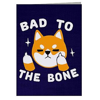 Biglietto d'auguri Bad To The Bone Dog