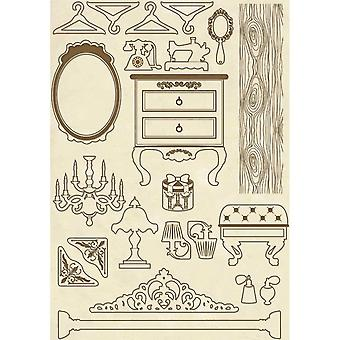Wooden Shapes A5 Furniture Items (KLSP049)