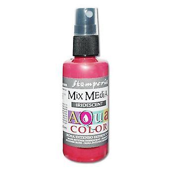 Stamperia Aquacolor رذاذ 60ml Iridescent الوردي مكثفة