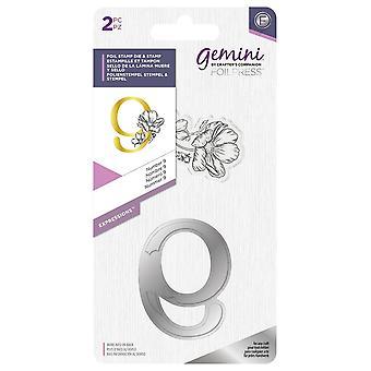 Gemini Number 9 Expressions Foil Stamp Die & Stamp