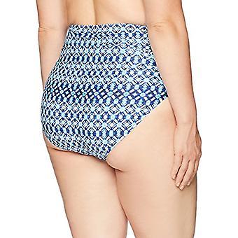 Brand - Coastal Blue Plus Size Bikini Bottom, New Navy geo, 2X