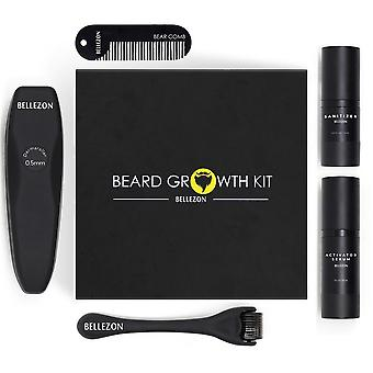 Barber Beard Growth Kit, Ensemble exhausteur de croissance de cheveux