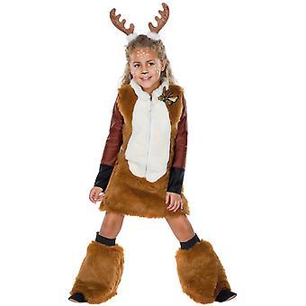 Rehkitz Peluche Bambini Cervo Costume Foresta 3-Piece