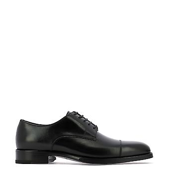 Tom Ford J1005ganuner Men's Black Leather Lace-up Schoenen