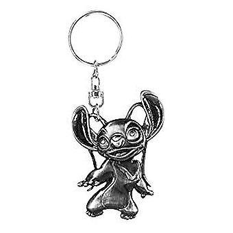 Metal Key Chain - Disney - Stitch - Angel Pewter New 85922