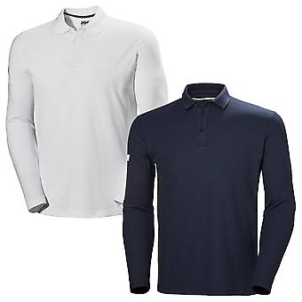 Helly Hansen Herren 2020 Crewline Quick Dry Ribbed Langarm Polo Shirt