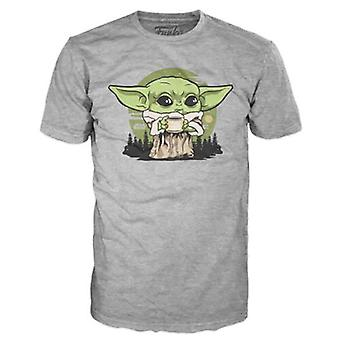Funko T-Shirt - Mandalorian: Barn Ben Buljong - Stor