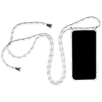 Mobile Case with Neck Strap for Apple iPhone X/XS Clear Phone Mobile Cover Rubber White