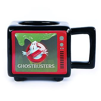 Ghostbusters Retro TV Heat Changing 3D Mug