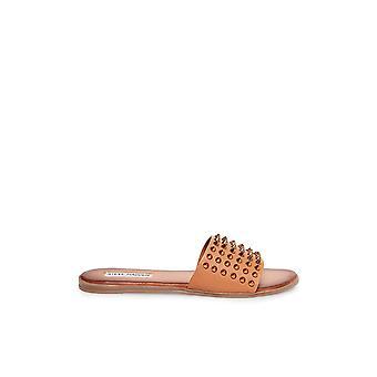 Steve Madden Womens Farryn Leather Open Toe Special Occasion Slide Sandals