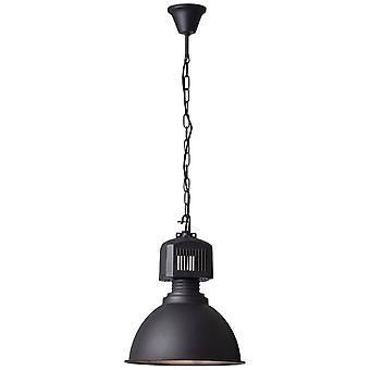 BRILLIANT Lamp Blake Hanglamp 39cm zwart   1x A60, E27, 60 W, geschikt voor normale lampen (niet inbegrepen)   Schaal