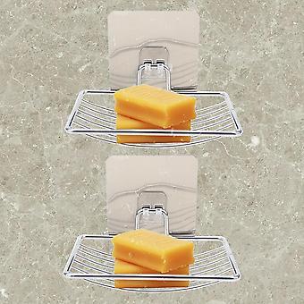 Rozsdamentes acél szappantartó, fürdőszoba tároló rack lemez doboz, konténer fal