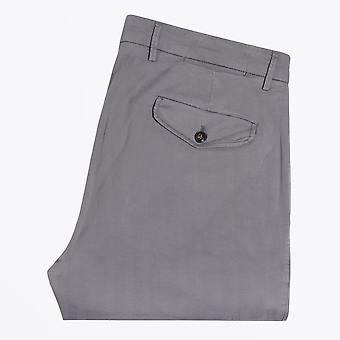 Briglia - Light Grey Tonal Stripe Slim Fit Chino