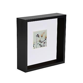 Nicola Primavera 6 x 6 3D Sombra Deep Box Marco de fotos - Craft Display Picture Frame - Negro