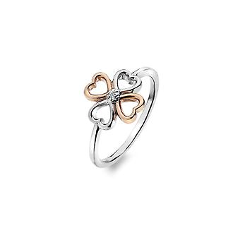 Hot Diamonds Lucky In Love Rose Gold Accents Ring DR216