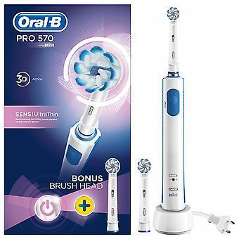 Brosse à dents électrique Oral B Pro 570 Sensi Ultra Thin avec tête de recharge