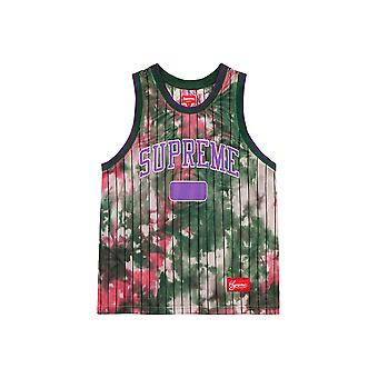 Supreme Dyed Basketball Jersey Green - Clothing
