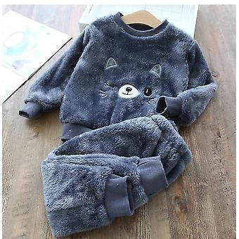 Baby Clothes Pajamas Set, Flannel Fleece Toddler Warm Bear Sleepwear