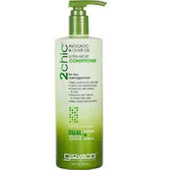 Giovanni Cosmetics 2chic Ultra Moist Avocado and Olive Oil Conditioner, 24 oz