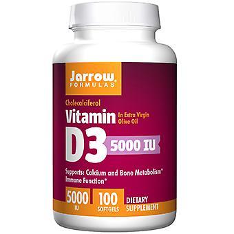 Jarrow Kaavat Vitamiini D3, 5000 Iu, 100 Softgels