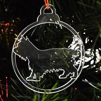 犬安物の宝石をクリア アクリル クリスマス装飾 6 個パック - ケアーン ・ テリア
