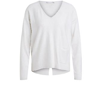 Oui Stone V Neck Jumper