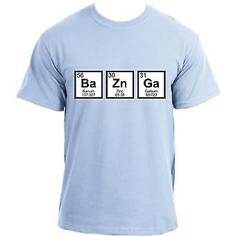 Big Bang Theory BaZnGa Periodic Table Sheldon Cooper Bazinga Geek T-Shirt