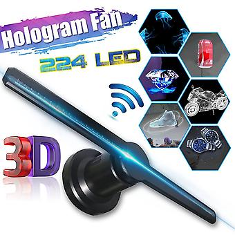 Wifi 3d Hologram Projector Fan Met 16g Tf -holografisch Display 224 Leds