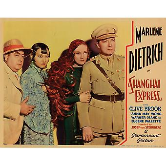 Shanghai Express Eugene Pallette Anna May Wong Marlene Dietrich Clive Brook 1932 Movie Poster Masterprint