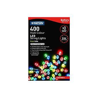 Status International Dornbirn Batt String Lights + Timer 400 LED Multi Coloured