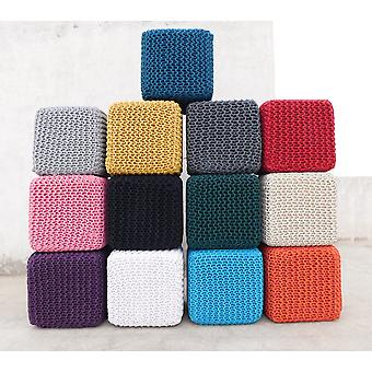 Spura Home Chicklet Cube Decor Ottomons Square Pouf