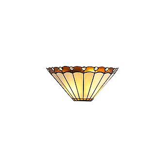 Lampada Da parete Morgan Tiffany, 2 X E14, Ambra/crema/cristallo